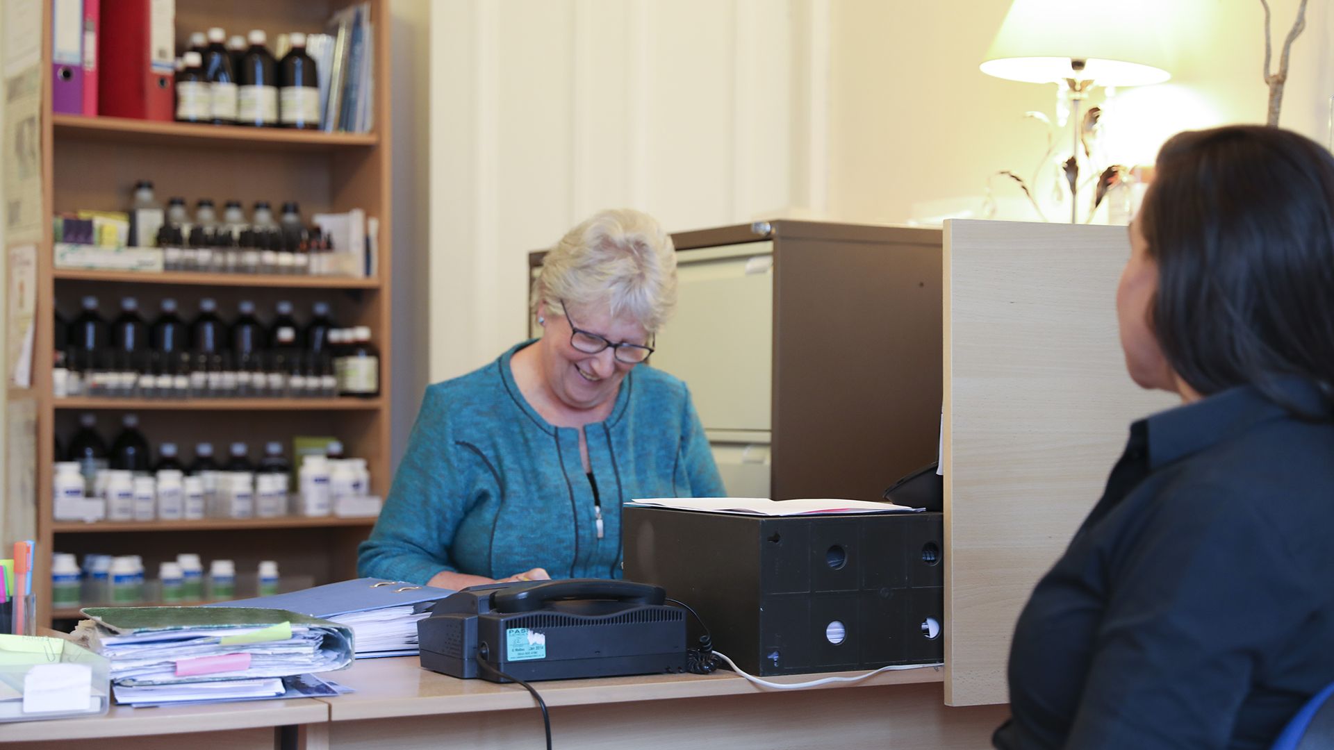 Sandra, our welcoming receptionist